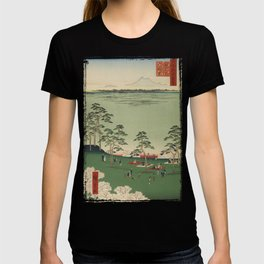 Spring Trees Mountain Ukiyo-e Japanese Art T-shirt