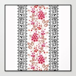 Red flowers . Canvas Print
