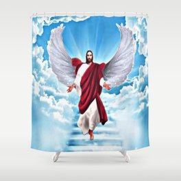 Lord In Heaven Shower Curtain