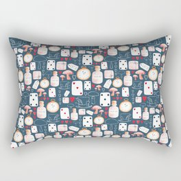 Alice in Wonderland - Six Impossible Things Rectangular Pillow