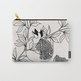 Pomegranate (BW) Carry-All Pouch