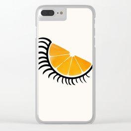 Clockwork Orangina Clear iPhone Case