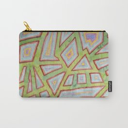Map Pattern on Spring Green Carry-All Pouch