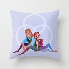 Through your eyes Throw Pillow