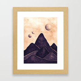 Himalayan Night Under The Stars Framed Art Print