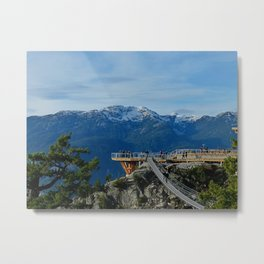 Sea-to-Sky Gondola Upper Platform Metal Print