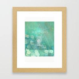 WOODKING Framed Art Print