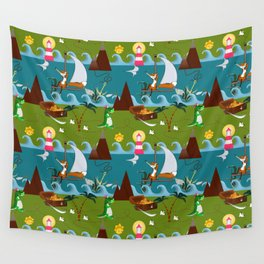 Nautical kids dream Wall Tapestry