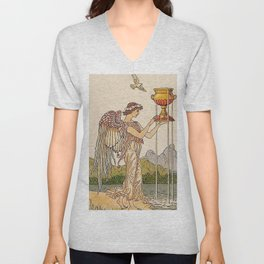 Ace of Cups By Walter Crane Unisex V-Neck