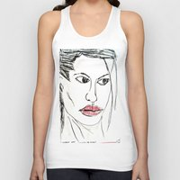 angelina jolie Tank Tops featuring ANGELINA JOLIE by JANUARY FROST