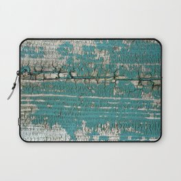 Rustic Wood Turquiose Paint Weathered Laptop Sleeve