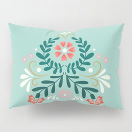 Floral Folk Pattern Pillow Sham