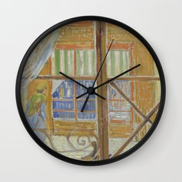 View of a Butcher's Shop Wall Clock