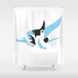 Blue Footed Booby Shower Curtain