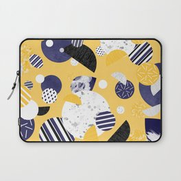 Yellow and Blue Circles Laptop Sleeve