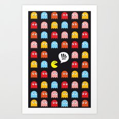 Pac-Man Trapped Art Print