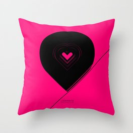 CRYPTIC HIPSTER HEART. Throw Pillow