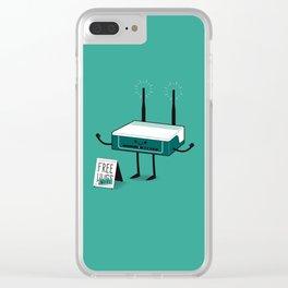 Free Wi-fi Clear iPhone Case