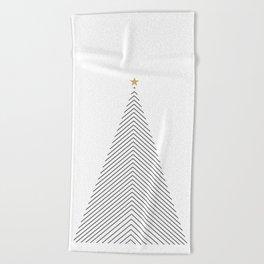 Minimal Christmas Tree #society6 #decor #buyart Beach Towel