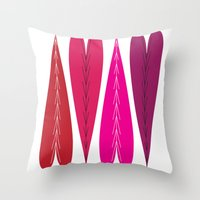 swedish Throw Pillows featuring Swedish Valentines by KatieKatherine