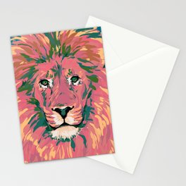 Pink Lion Stationery Cards