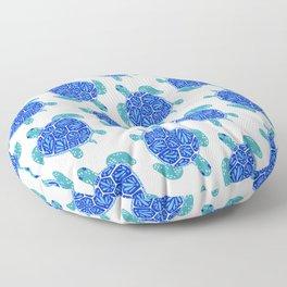 Sea Turtle – Blue Palette Floor Pillow