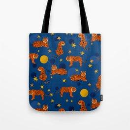 Cosmic Tigers Tote Bag