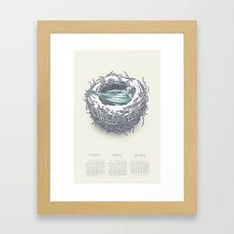 Seasonal Calendar: Winter 2015 Framed Art Print