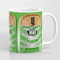 vans Mugs featuring Cute Green Vans all star baby shoes apple iPhone 4 4s 5 5s 5c, ipod, ipad, pillow case and tshirt by Three Second