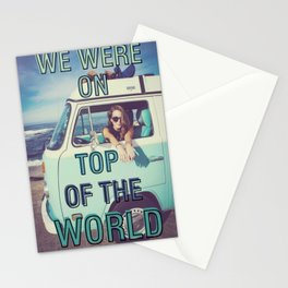 We were on top of the world Stationery Cards