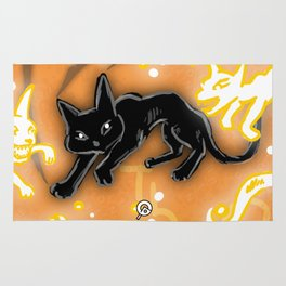 Feline Fire Rug