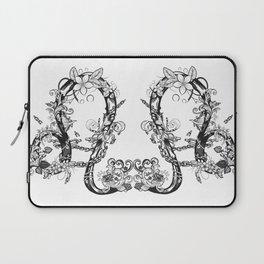 lion black and white zodiac sign Laptop Sleeve