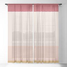 Contemporary Color Block II Sheer Curtain
