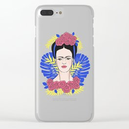 Tribute to Frida #1 Clear iPhone Case