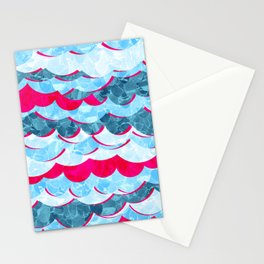 Abstract Sea Waves Design Stationery Cards