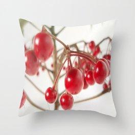 Scarlet Berry Throw Pillow