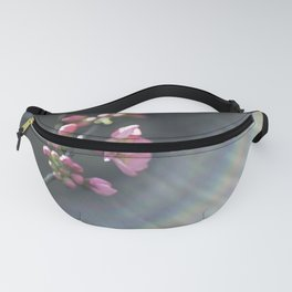 Rainbow with pink blossom Fanny Pack