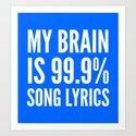 My Brain is 99.9% Song Lyrics (Blue) by creativeangel