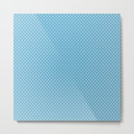 Baby Blue Scales Pattern Metal Print