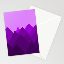 Abstract Purple Alien Landscape Stationery Cards