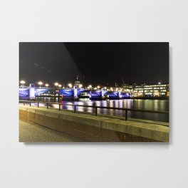 Bridge over the Thames Metal Print