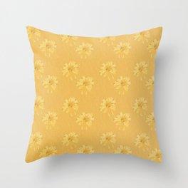 Yellow Orange Bows Throw Pillow