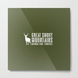 Deer: Great Smoky Mountains, Tennessee Metal Print