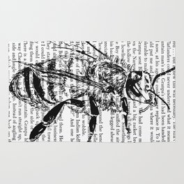 Honey Bee Book Page Rug