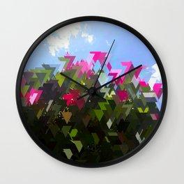 Glitchin' Flowers Wall Clock