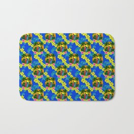 Sunset And Surf Pattern Bath Mat