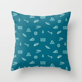 Outdoor Icons Throw Pillow