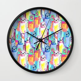 Busy budgies Wall Clock
