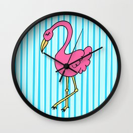 flamingerrrrr Wall Clock