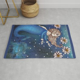 The Mermaid's Lake--The Underwater Palace Rug
